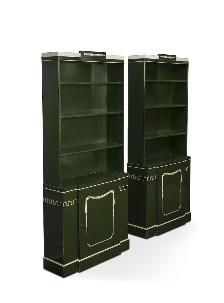 American Pair of Grosfeld House Bookcases For Sale