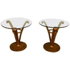 Pair of Grosfeld House Hollywood Regency Side Tables