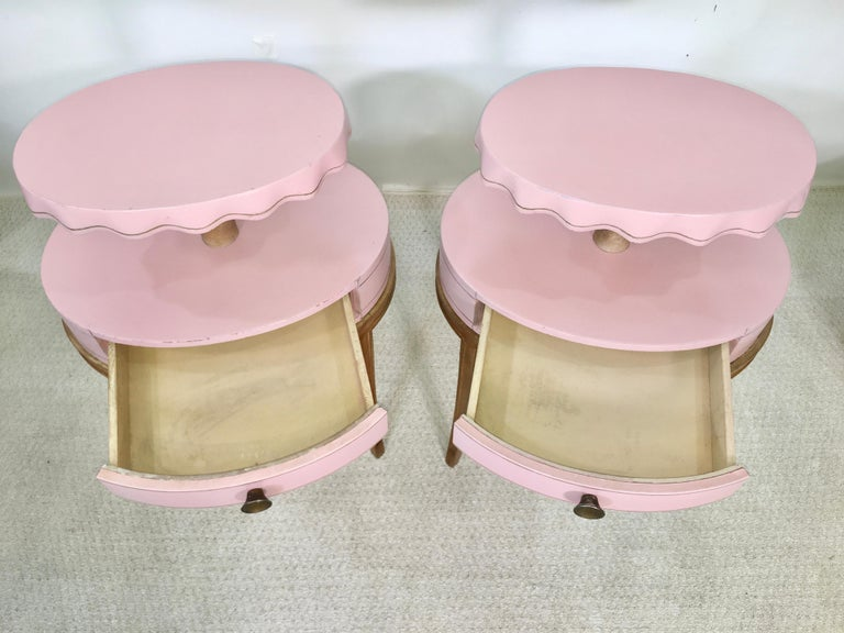 Pair of Grosfeld House Night Tables For Sale 8