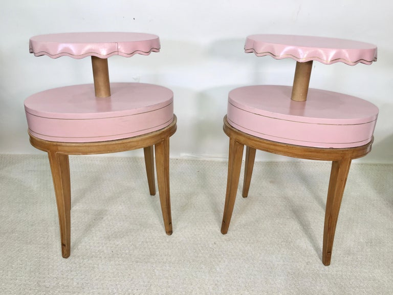 Pair of Grosfeld House Night Tables For Sale 9