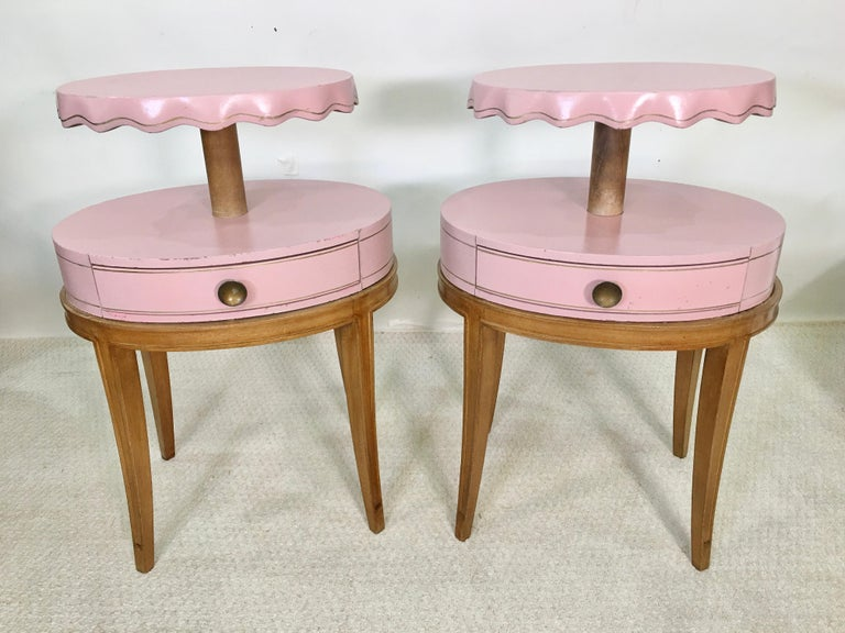 Mid-20th Century Pair of Grosfeld House Night Tables For Sale