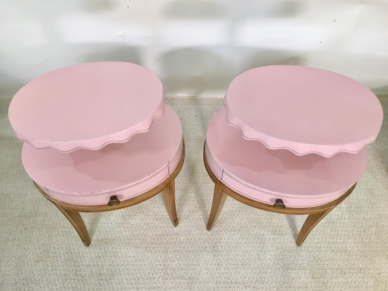 Pair of Grosfeld House Night Tables For Sale 1