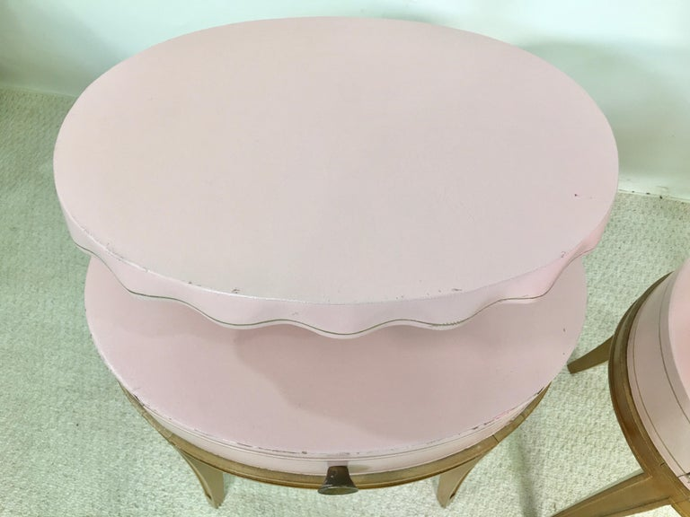 Pair of Grosfeld House Night Tables For Sale 2