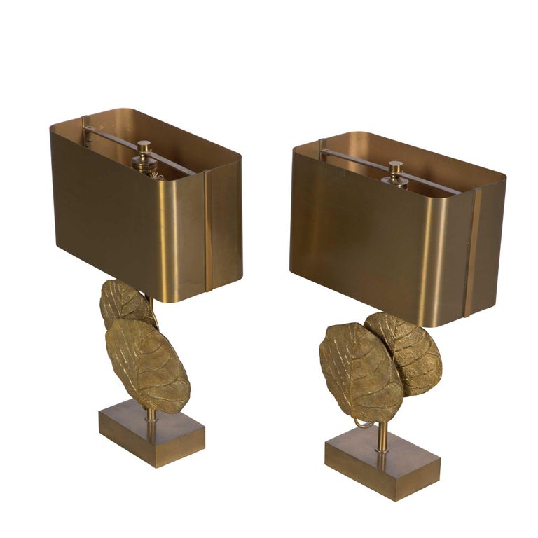 """Good pair of """"Guadeloupe"""" lamps by Chrystaine Charles stamped """"Charles Made in France""""  By Maison Charles, Paris circa 1970."""