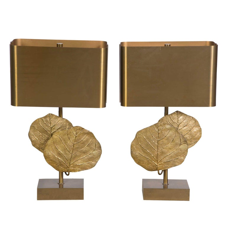 """Pair of """"Guadeloupe"""" Lamps, Chrystaine Charles Stamped """"Charles Made in France"""" For Sale"""