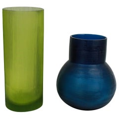 Pair of Guaxs Glass Vases in Stunning Colors