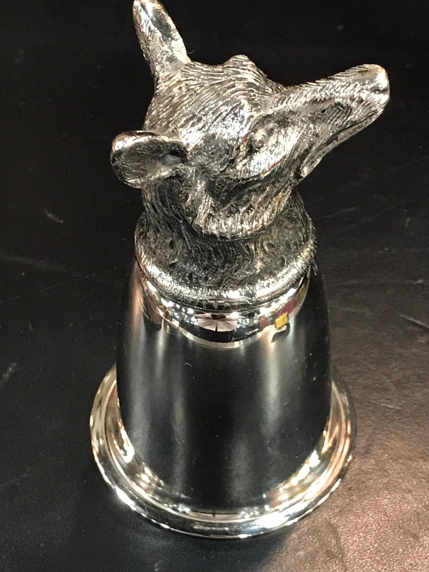 ddcaeca8d870f1 Pair of Gucci Silver Plated Fox Motif Stirrup Cups