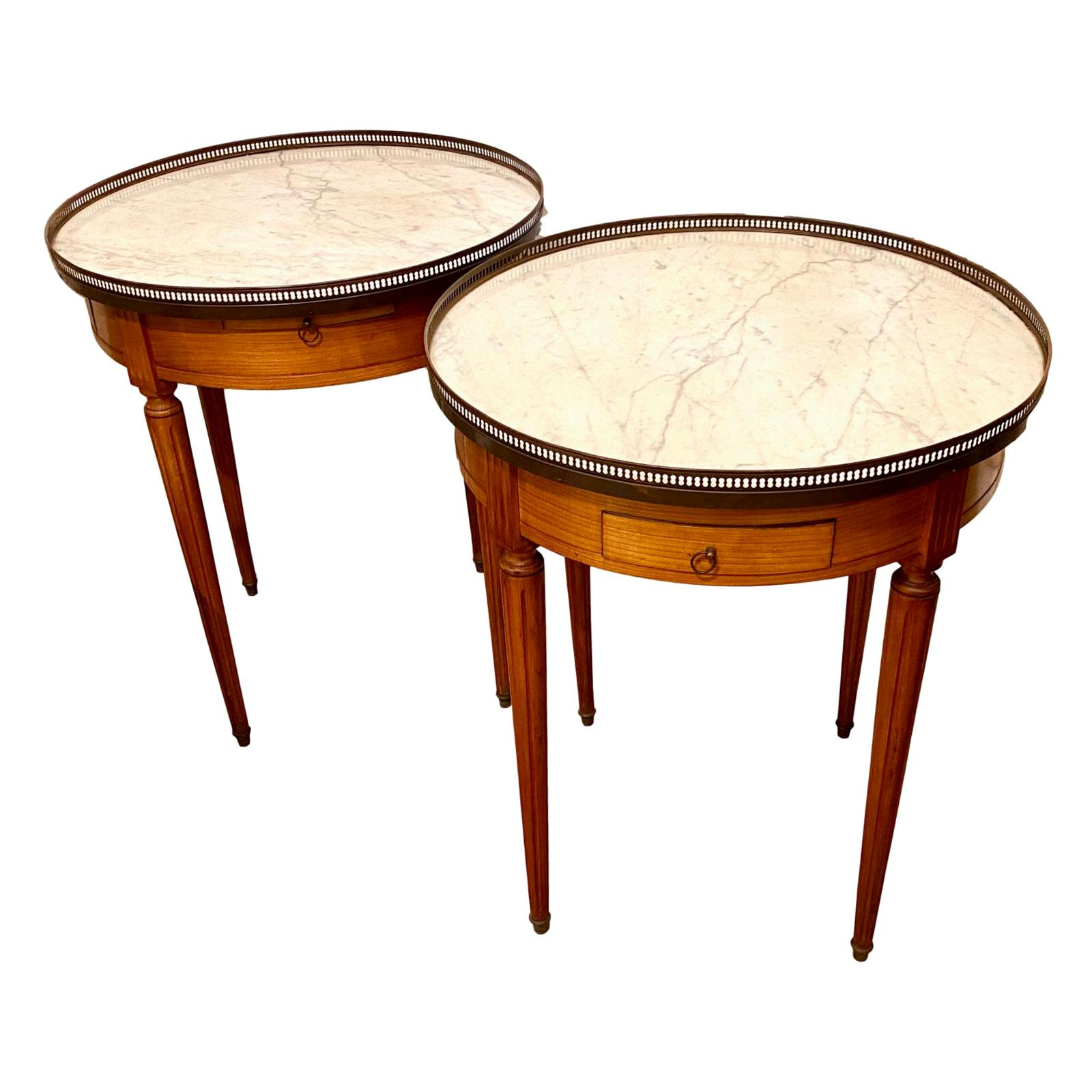 Pair of Gueridon Side Tables