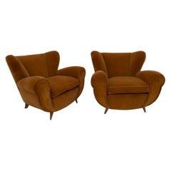 Pair of Gugliemo Ulrich Art Deco Italian Armchairs, 1940s