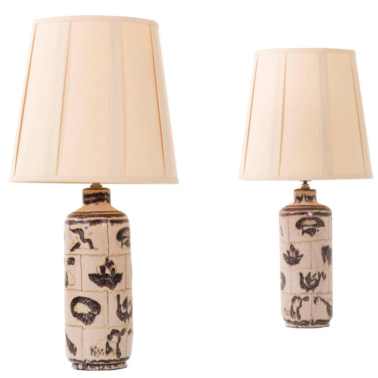 Pair of Guido Gambone Lamps