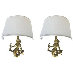 Pair of Guillemard Mermaids Sconces.2pairs available