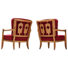 Pair of Guillerme et Chambron Easy Chairs