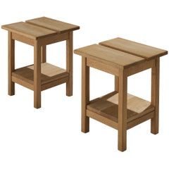 Pair of Guillerme et Chambron Side Tables