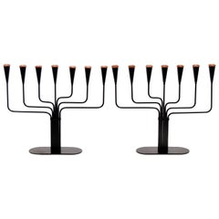 Pair of Gunnar Ander Candelabras for Ystad Metall, 1970s