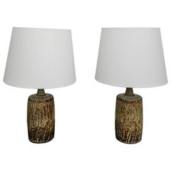 Pair of Gunnar Nylund Ceramic Table Lamps for Rörstrand 1950s, Sweden