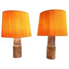 Pair of Gunnar Nylund Ceramic Table Lamps, Sweden, 1950s