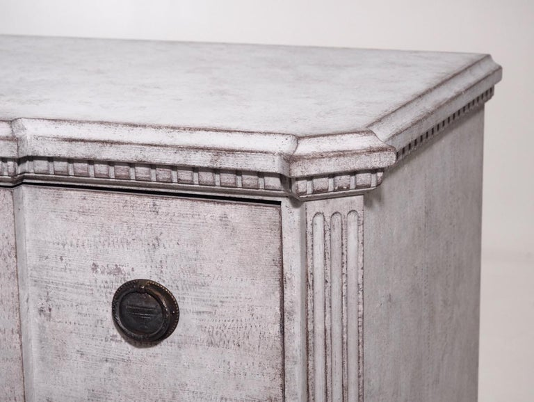 Wood Pair of Gustavian Break-Front Chests, 19th Century For Sale