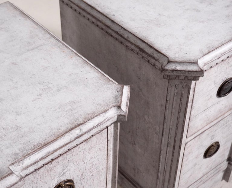 Pair of Gustavian Break-Front Chests, 19th Century For Sale 2