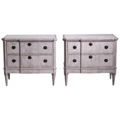 Pair of Gustavian Break-Front Chests, 19th Century