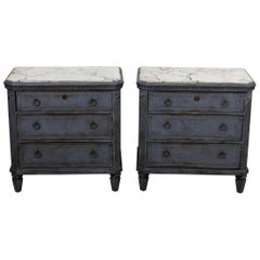 Pair of Gustavian Style Chests of Drawers