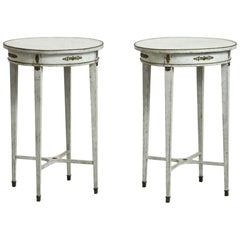 Pair of Gustavian Style Side Tables, 19th Century