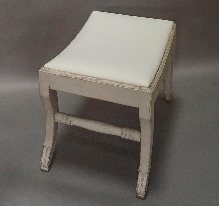 20th Century Pair of Gustavian Style Swedish Stools For Sale