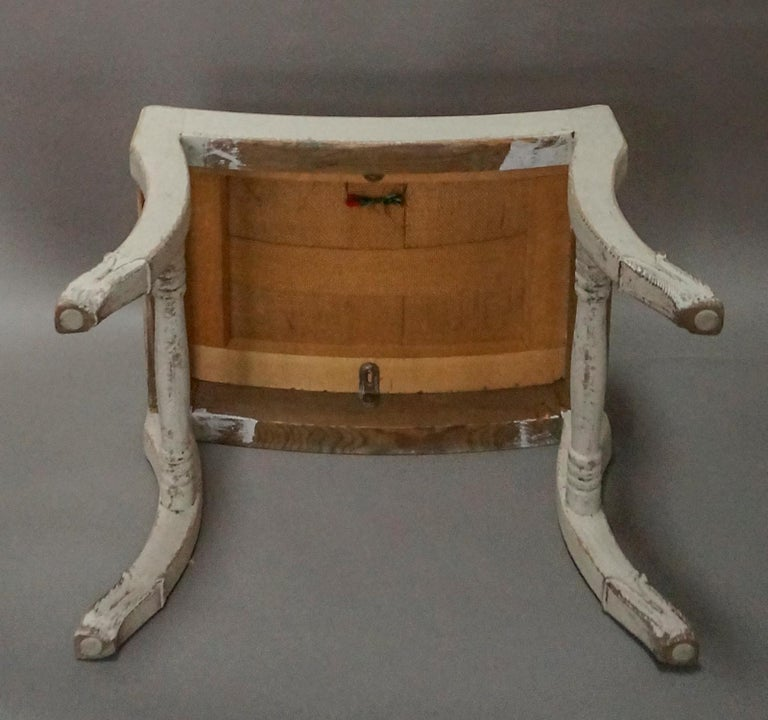 Pair of Gustavian Style Swedish Stools For Sale 2