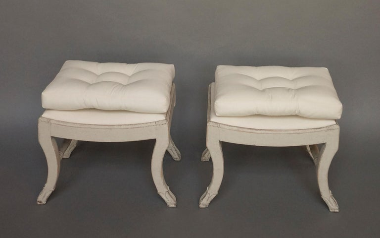 Pair of Gustavian Style Swedish Stools For Sale 3