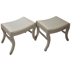 Pair of Gustavian Style Swedish Stools