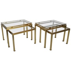 Pair of Guy Lefevre for Maison Jansen Side Table