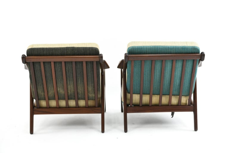 Pair of H. Brockmann-Petersen Danish Lounge Chairs For Sale 6