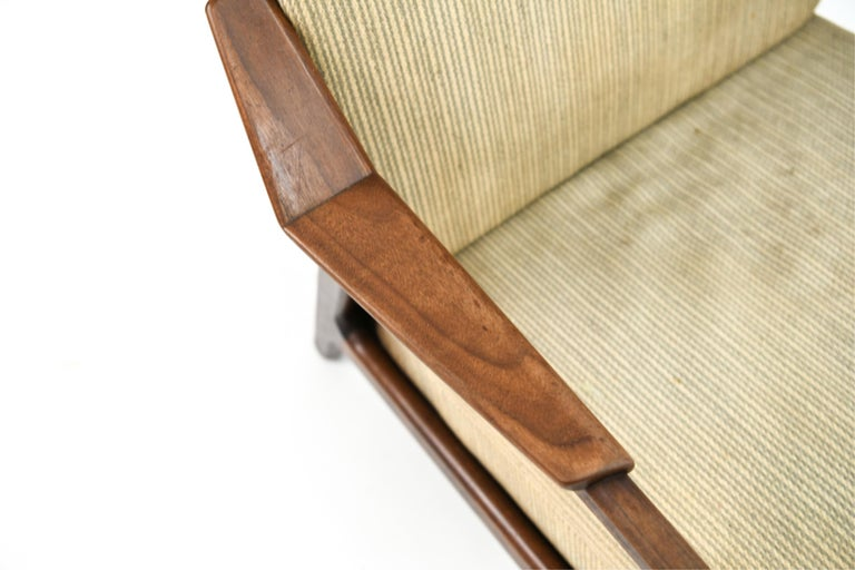 Pair of H. Brockmann-Petersen Danish Lounge Chairs In Good Condition For Sale In Norwalk, CT