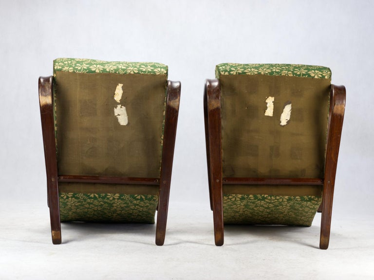 Bentwood Pair of H269 Lounge Chairs by Jindřich Halabala for Up Závody Brno, 1930s