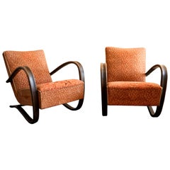 Pair of H269 Lounge Chairs by Jindrich Halabala for UP Závody Brno, 1930s