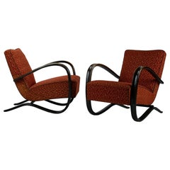 Pair of H269 Lounge Chairs by Jindřich Halabala for UP Závody Brno, 1930s