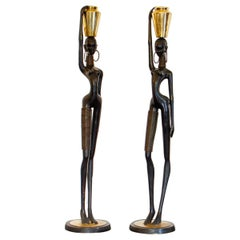 Pair of Hagenauer Style Nubian Figures, 1970s