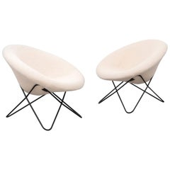 Pair of Hairpin Chairs, France, 1950s