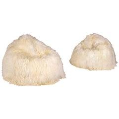 Pair of Hairy Bean Bag, circa 2000, England