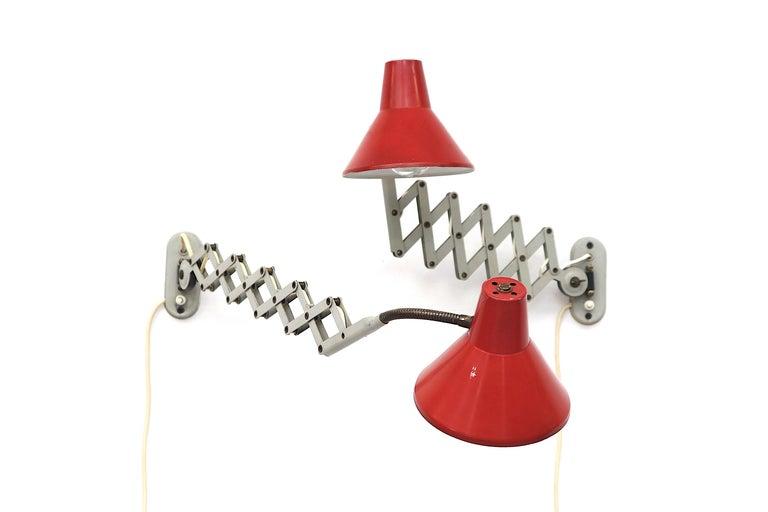 Pair of Hala Zeist Wall Mount Scissor Lamps For Sale 5