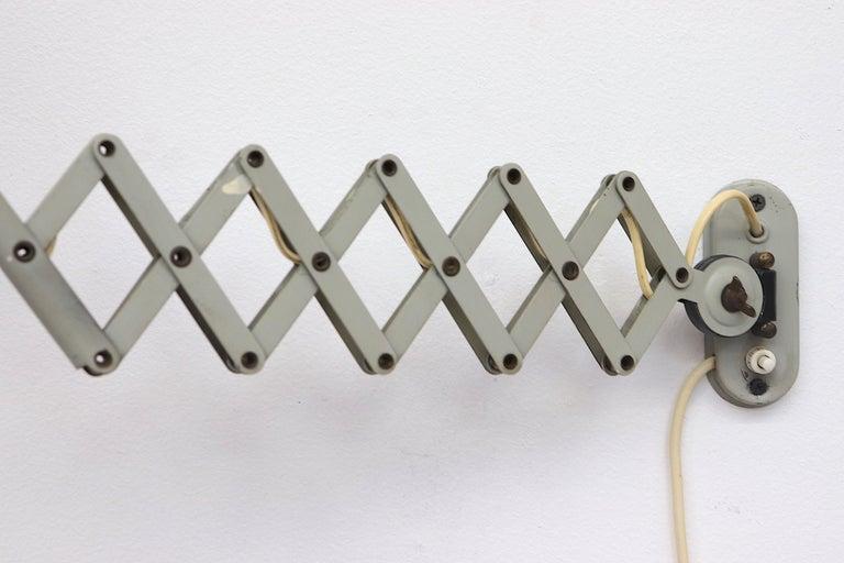 Metal Pair of Hala Zeist Wall Mount Scissor Lamps For Sale
