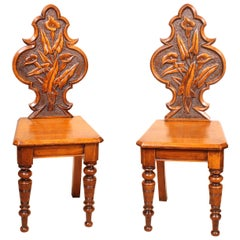 Pair of Hall Chairs Art Deco, Early 20 Century, England