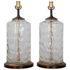 Pair of Hand Blown Lamps