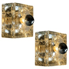 Pair of Hand Blown Table, Wall or Ceiling Lights, Austria, 1960