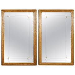 "Pair of Hand-Carved Gilded Mirrors ""Park Avenue"""