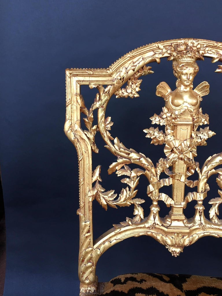 Pair of Hand Carved Wood Chairs For Sale 6