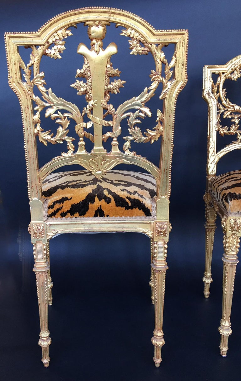 Pair of Hand Carved Wood Chairs For Sale 7