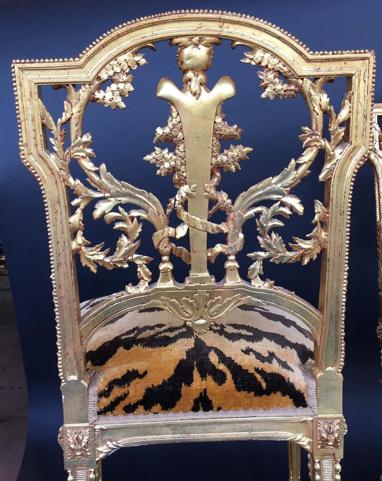 Pair of Hand Carved Wood Chairs For Sale 8