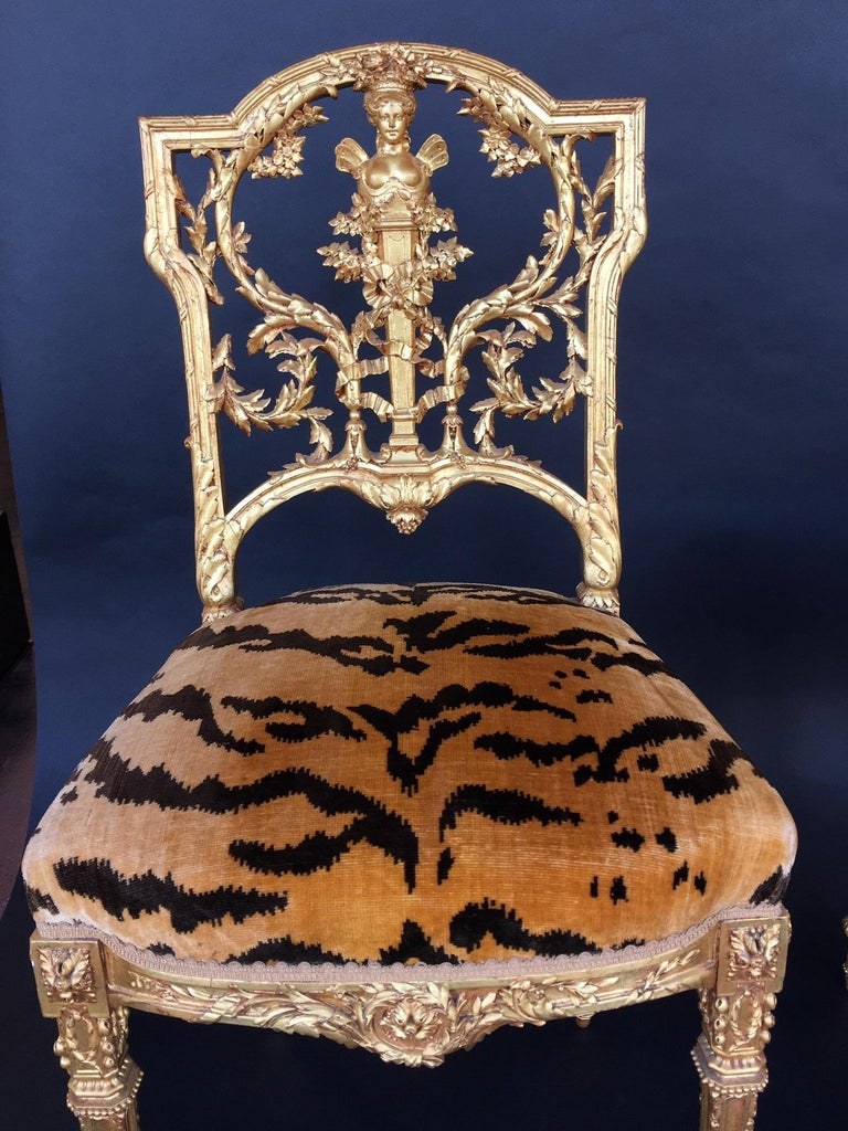 Pair of Hand Carved Wood Chairs For Sale 1