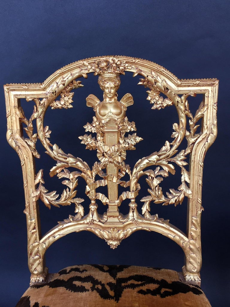 Pair of Hand Carved Wood Chairs For Sale 3