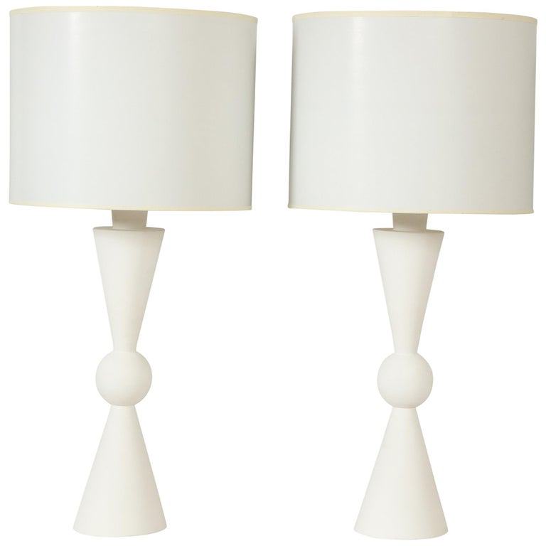 Arlo table lamps, new, offered by Lerebours Antiques